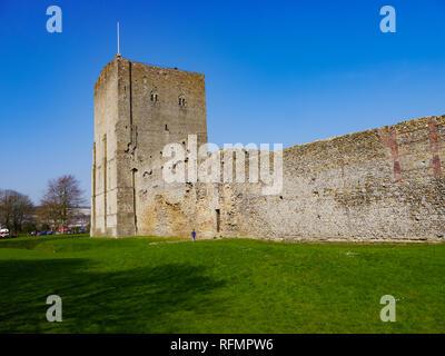 Portchester Castle, Hampshire, England - Stock Image