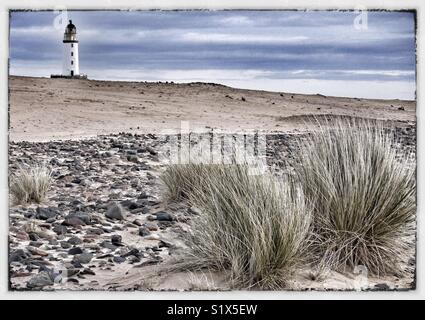 Lighthouse on East coast of Scotland - Stock Image
