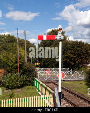 View from the Platform of Eythorne Station at the  East Kent Railway Trust,  Station Road,  Shepherdswell, Dover - Stock Image