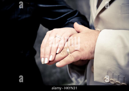 hands of the newly married - Stock Image