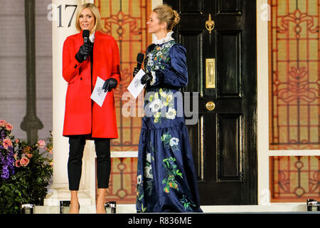 London, UK. 12th December, 2018. Jenni Falconer and Edith Bowman at the European Premier of Mary Poppins Returns on Wednesday 12 December 2018 held at The Royal Albert Hall, London. Pictured: Edith Bowman. Credit: Julie Edwards/Alamy Live News - Stock Image