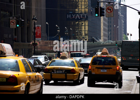 New York City Typical Street Scene - Stock Image