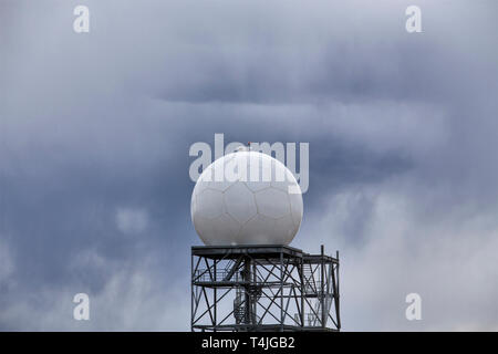 Prairie Storm Clouds in Saskatchewan Doppler Radar - Stock Image