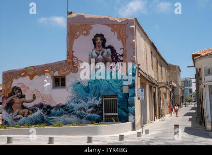 shopping precinct in Paphos old town centre, Paphos, Cyprus. - Stock Image
