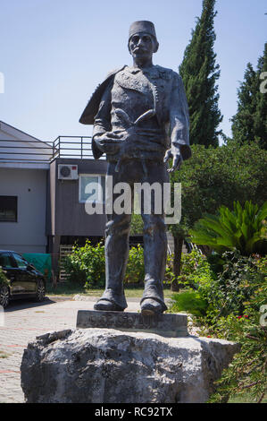 Ded Gjo Luli statue in front of the Sveti Antun church in Tuzi city in southern Montenegro, September 2nd, 2018. (CTK Photo/Libor Sojka) - Stock Image
