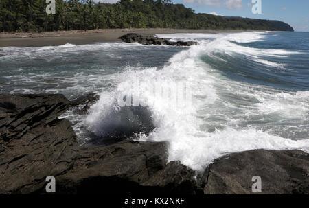 Rocky Beach on Osa Peninsula - Stock Image