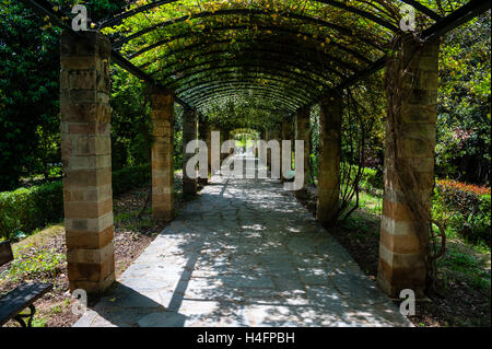 Athens, Greece. The National Garden is a large public park. - Stock Image