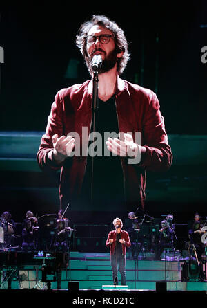 Josh Groban performs at Manchester Arena  Featuring: Josh Groban Where: Manchester, United Kingdom When: 14 Dec 2018 Credit: Sakura/WENN.com - Stock Image