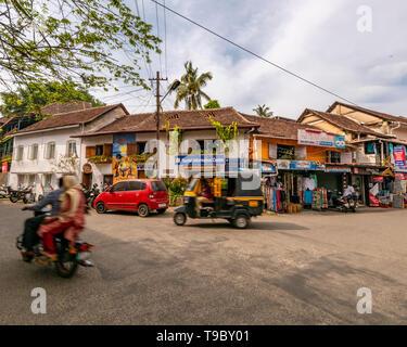 Horizontal streetview in Fort Kochi, India. - Stock Image