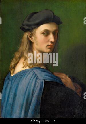 Raphael (Italian, 1483 - 1520 ), Bindo Altoviti, c. 1515, oil on panel - Stock Image