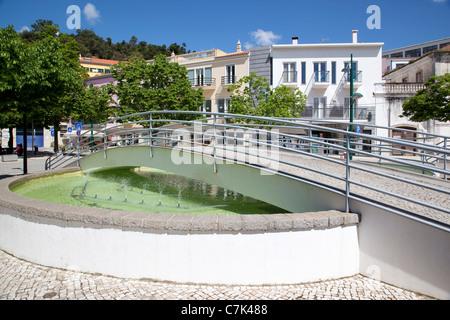 Portugal, Algarve, Monchique, Bridge & Fountain - Stock Image