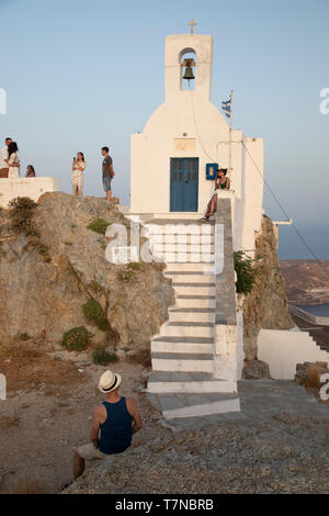 Greece, Cyclades islands, Serifos, Old Town (Chora) (MR) - Stock Image