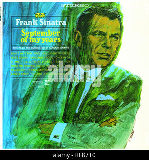 Cover of 1965 Frank Sinatra album 'September of My Years'.  Editorial Use Only. - Stock Image