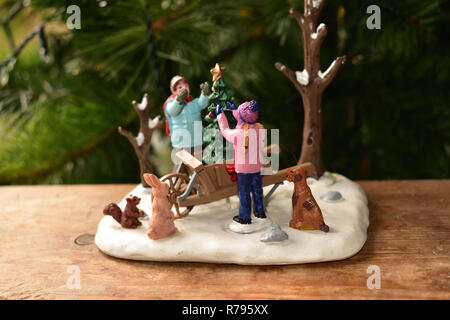 Christmas Miniature Ornament - Stock Image