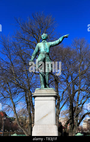 Statue of Charles XII, the Kings Gardens, Norrmalm, Stromkajen, Stockholm City, Sweden, Europe - Stock Image