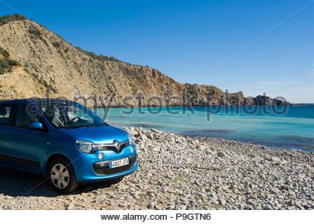 Renault Clio in Ibiza, Spain. - Stock Image