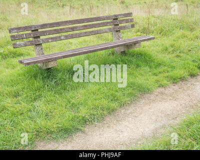 Bench seat in a public space. - Stock Image