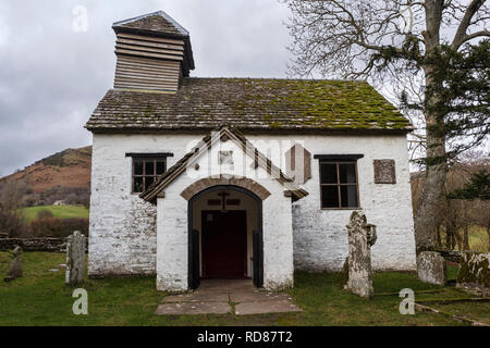St Mary The Virgin church at Capel-y-Ffin, in the Black Mountains, Brecon Beacons National Park, Monmouthshire, Wales, UK - Stock Image
