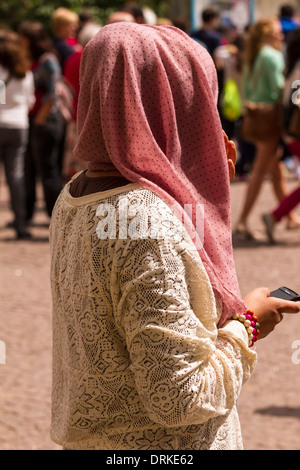 Muslim woman headdress - Stock Image