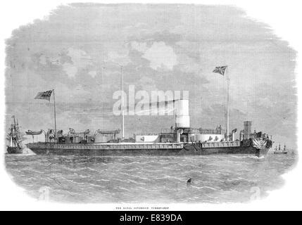 Royal Sovereign Turret Ship 1864 - Stock Image