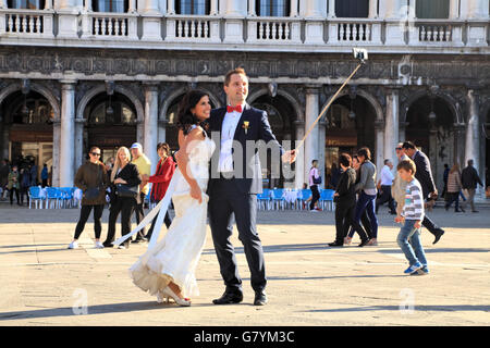 Wedding in Venice, Italy - Stock Image