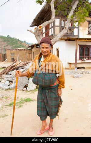 Traditional Bhutan clothing - Stock Image