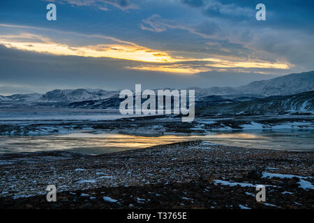 The cold and stunning landscape of Iceland. - Stock Image