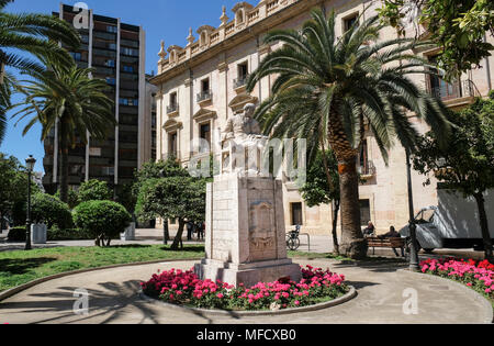 Statue in Valencia, Spain - Stock Image