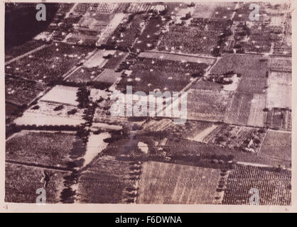 725. France. Abandoned parachutes litter the fields of southern France after the assault by allied airborne forces - Stock Image