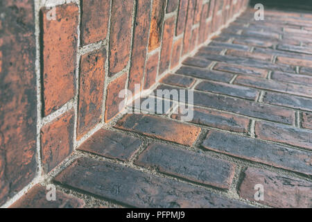 Brick wall of an old house - Stock Image