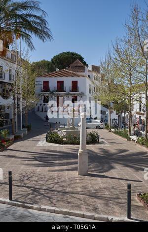 Plaza de la Constitución. Mijas Pueblo. Málaga, Spain. - Stock Image