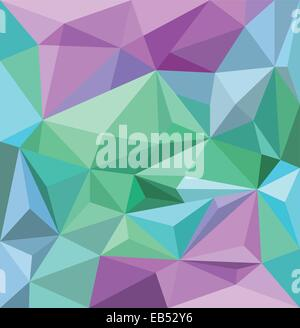 Angular background wallpaper in blue green and purple - Stock Image