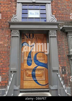 SeventyEight 78 A doorway in Seel St Liverpool - Stock Image