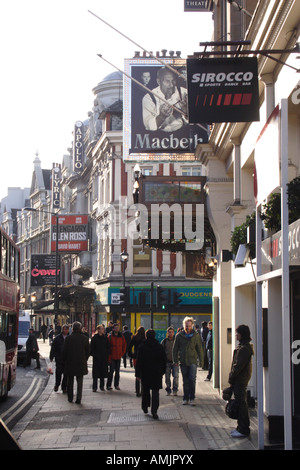Theatres Shaftesbury Avenue London November 2007 - Stock Image