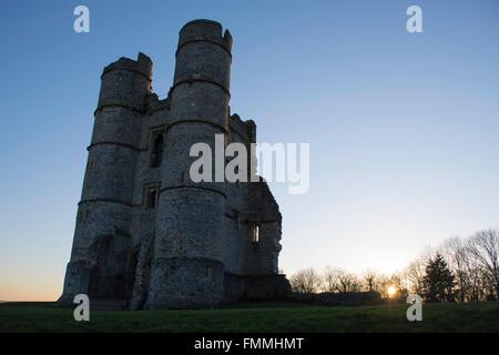 Donnington Castle Sunset - Stock Image
