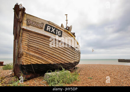 Fishing Boats on Hastings Beach. - Stock Image