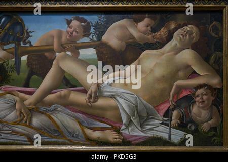 venus and mars,  boticelli - Stock Image