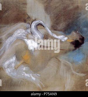 .  English: Leda with Swan Deutsch: Leda mit Schwan Polski: Leda z abdziem  N/A 18 Boldini, Leda with Swan - Stock Image