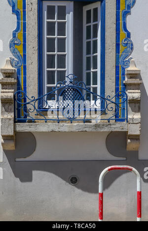 Detail from the houses in Cascais, Portugal - Stock Image
