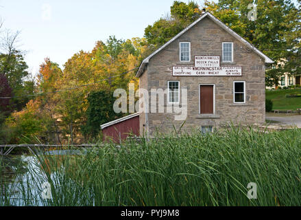 Historic Morningstar Mill in St. Catharines, Ontario, Canada.  By Decew Falls. - Stock Image