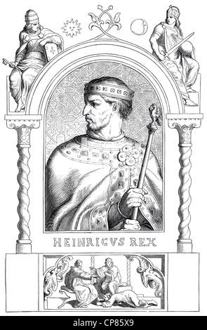 Henry IV, 1050 - 1106, Historical illustration, 19th century, Heinrich IV. (1050 - 1106 ) aus der Familie der Salier, - Stock Image