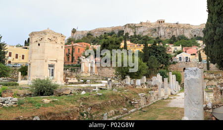Tower of the Winds, Roman Agora, Athens - Stock Image