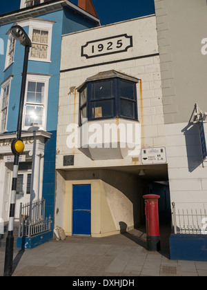 Public shelter entrance built in 1925, Aberystwyth seafront, Wales UK. - Stock Image