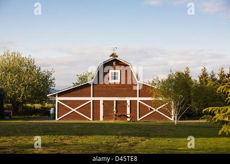 Spragg family barn, London Heritage Farm, Richmond, British Columbia, Canada - Stock Image