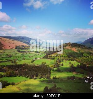 View from the top of catbells, Lake District, Cumbria - Stock Image