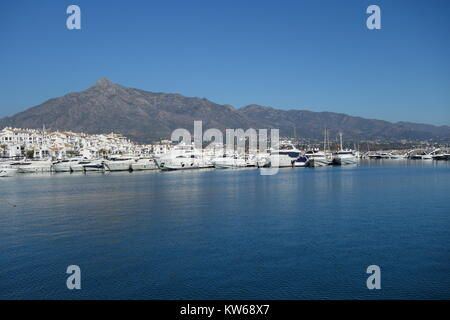 Marina, Puerto Banus, Marbella, Spain - Stock Image