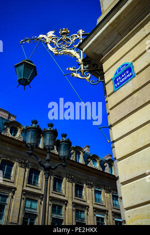 Architecture in the Place Vendome in the 1st Arrondisment in Paris, France - Stock Image