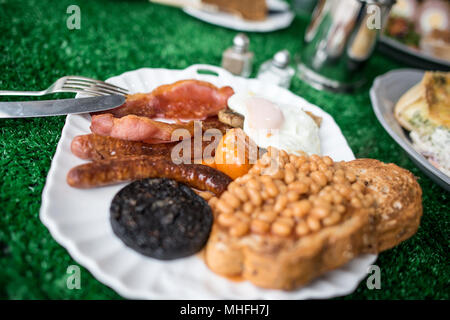 Full English Breakfast - Stock Image