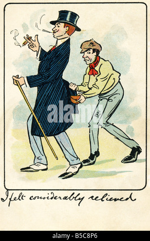 1905 1900s Edwardian Comic Art Postcard EDITORIAL USE ONLY - Stock Image