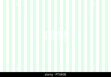 Pattern of vertical, same size mint green and white stripes with copy space. Seamless design of symmetrical lines forming pleasing, optical pattern. - Stock Image